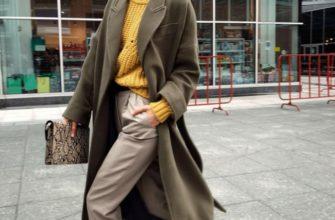 palto s krossovkami foto stilnyh zhenshhin